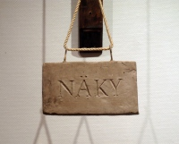 Näky (eng. Vision) Wood, fresh clay, metal, roap, varnish 2016